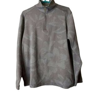Tommy Bahama Pinstripe Floral 1/4 Zip Pullover